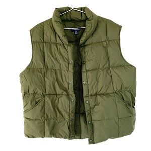 🔥LANDS END XL GOOSE DOWN Quilted Puffer VEST EUC
